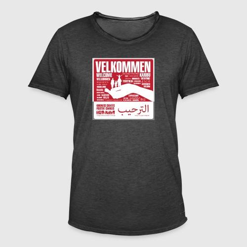 Women  - tshirt - Velkommen - Herre vintage T-shirt