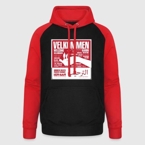 Women  - tshirt - Velkommen - Unisex baseball hoodie