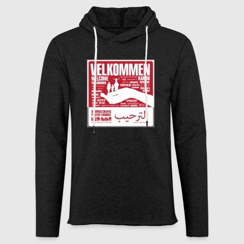 Women  - tshirt - Velkommen - Let sweatshirt med hætte, unisex
