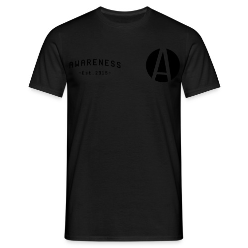 Zwarte mannen T-shirt - Mannen T-shirt