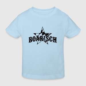 Boarisch Vintage Black Baby Bodys - Kinder Bio-T-Shirt