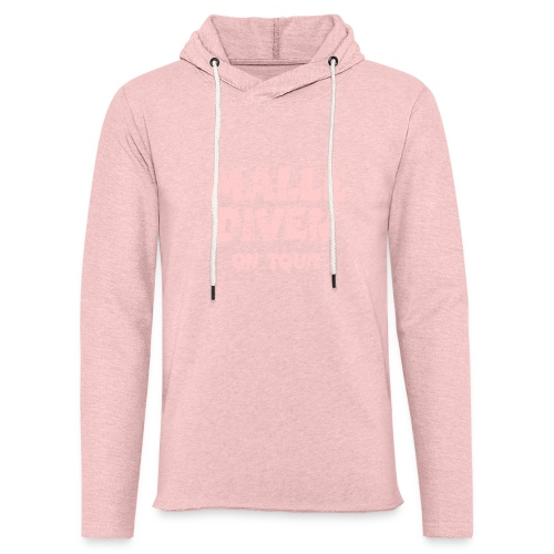 Malle Diven On Tour T-Shirt (Pink) - Leichtes Kapuzensweatshirt Unisex