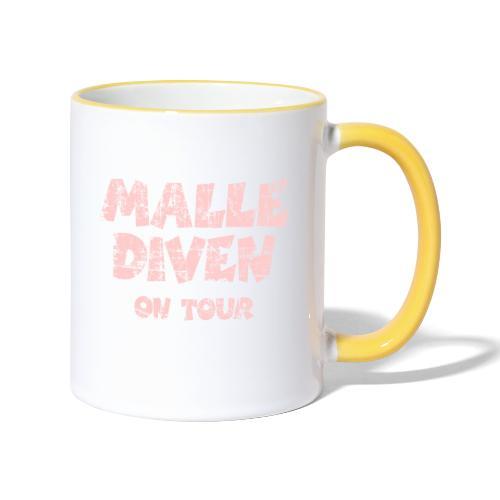 Malle Diven On Tour T-Shirt (Pink) - Tasse zweifarbig