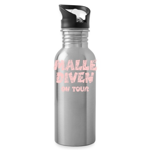 Malle Diven On Tour T-Shirt (Pink) - Trinkflasche