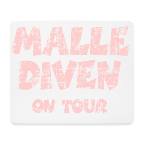 Malle Diven On Tour T-Shirt (Pink) - Mousepad (Querformat)