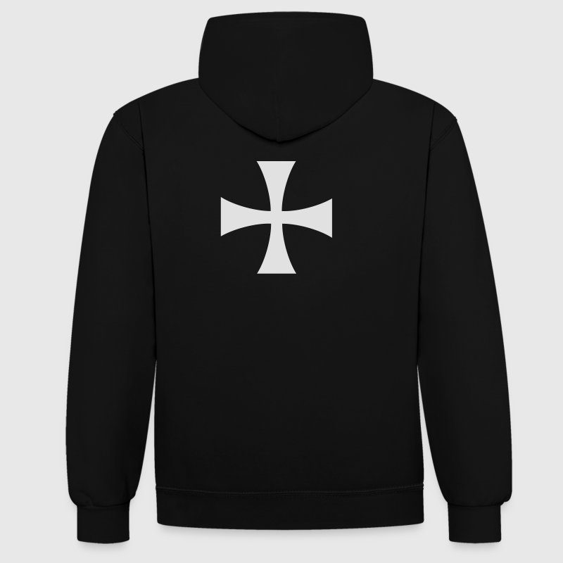 Hospitallers Cross Hoodies & Sweatshirts - Contrast Colour Hoodie