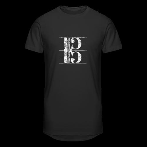 Altschlüssel (Vintage/Weiß) S-3XL T-Shirt - Männer Urban Longshirt