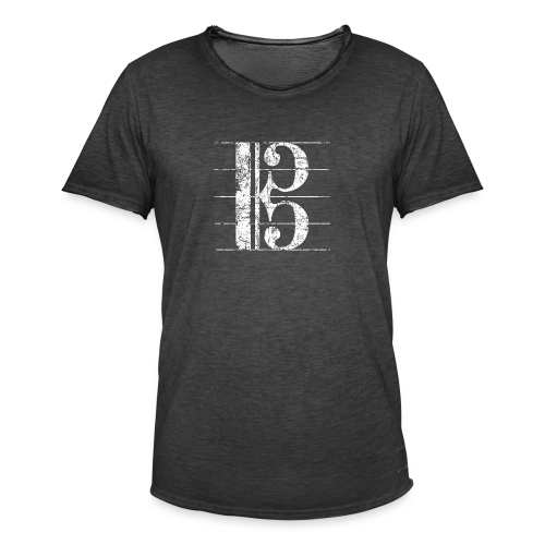 Altschlüssel (Vintage/Weiß) S-3XL T-Shirt - Männer Vintage T-Shirt