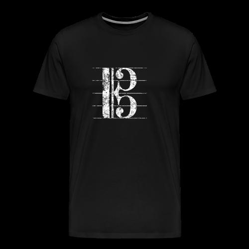 Altschlüssel (Vintage/Weiß) S-3XL T-Shirt - Männer Premium T-Shirt