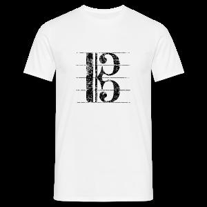 Altschlüssel (Vintage/Schwarz) S-3XL T-Shirt - Männer T-Shirt