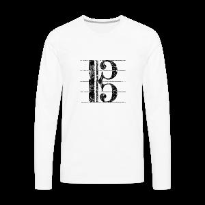 Altschlüssel (Vintage/Schwarz) S-3XL T-Shirt - Männer Premium Langarmshirt