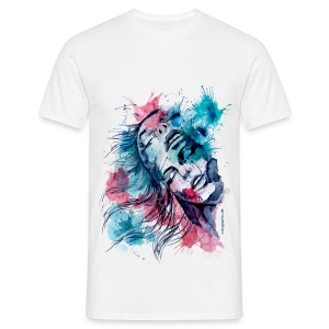 Marijane aquarell by carographic  - Männer T-Shirt
