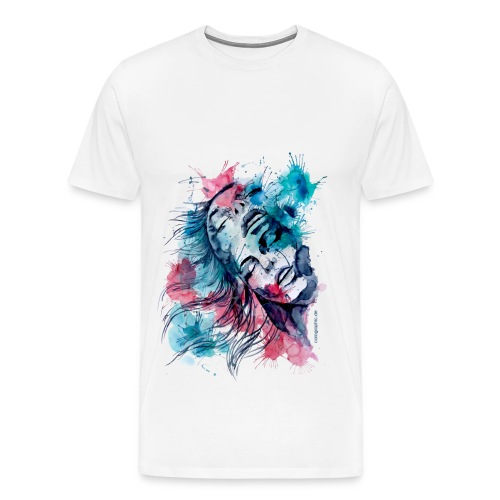 Marijane aquarell by carographic  - Männer Premium T-Shirt
