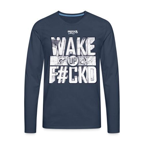 wufu v-neck - Mannen Premium shirt met lange mouwen