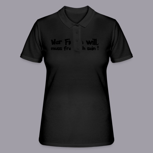 Sex Motiv 1 in schwarz - Frauen Polo Shirt