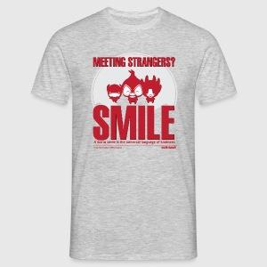 Meeting strangers & democracy Mens langærmet tshirt - Herre-T-shirt