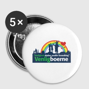 Venligbo Tshirt - Buttons/Badges lille, 25 mm