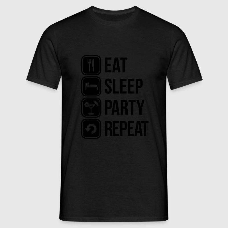 eat sleep party repeat T-Shirts - Männer T-Shirt