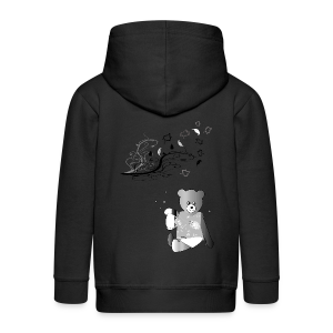 Kinder Shirt Teddybär - Kinder Premium Kapuzenjacke