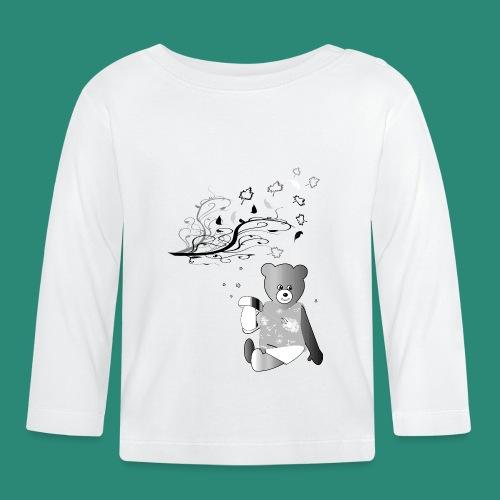 Kinder Shirt Teddybär - Baby Langarmshirt
