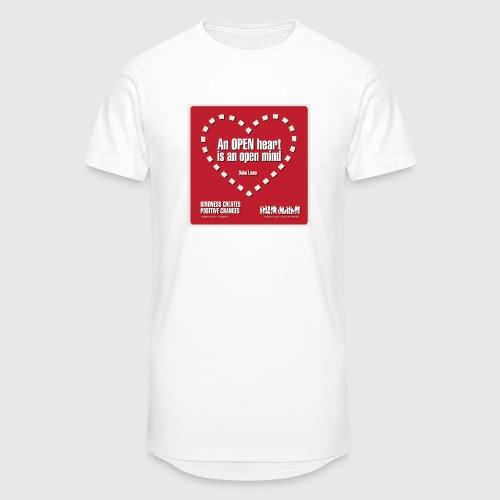 Open heart Men Tshirt - Herre Urban Longshirt