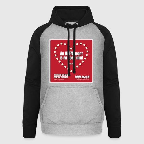 Open heart Men Tshirt - Unisex baseball hoodie
