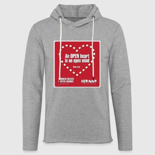Open heart Men Tshirt - Let sweatshirt med hætte, unisex