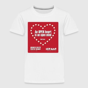 Open heart Men Tshirt - Børne premium T-shirt