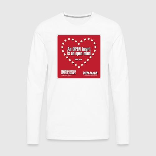 Open heart Men Tshirt - Herre premium T-shirt med lange ærmer