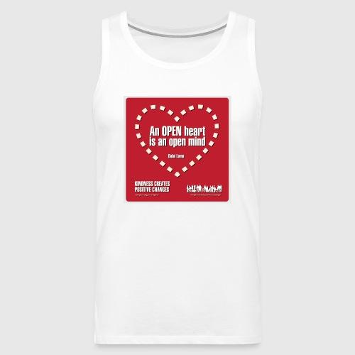 Open heart Men Tshirt - Herre Premium tanktop