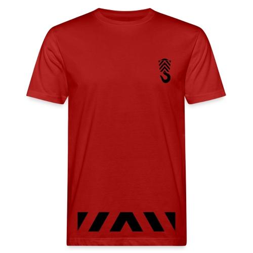 Arbeits- Shirt Abschleppdienst Marke Spreadshirt Druck silber reflektierend - Männer Bio-T-Shirt