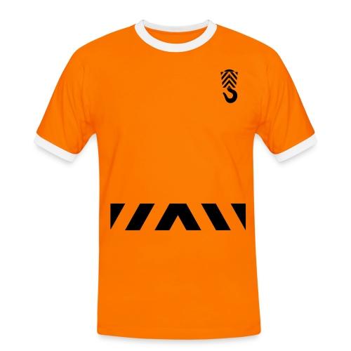 Arbeits- Shirt Abschleppdienst Marke Spreadshirt Druck schwarz - Männer Kontrast-T-Shirt