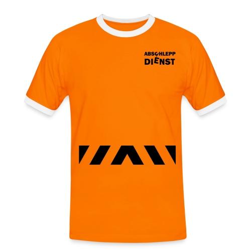 Arbeits- Shirt Abschleppdienst Marke Spreadshirt Druck silber reflektierend - Männer Kontrast-T-Shirt