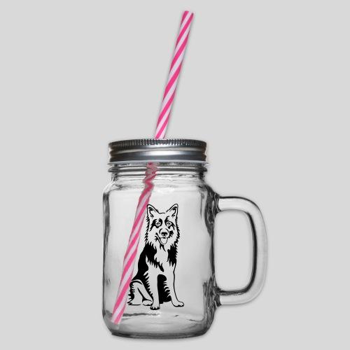Deutscher Schäferhund - Henkelglas mit Schraubdeckel