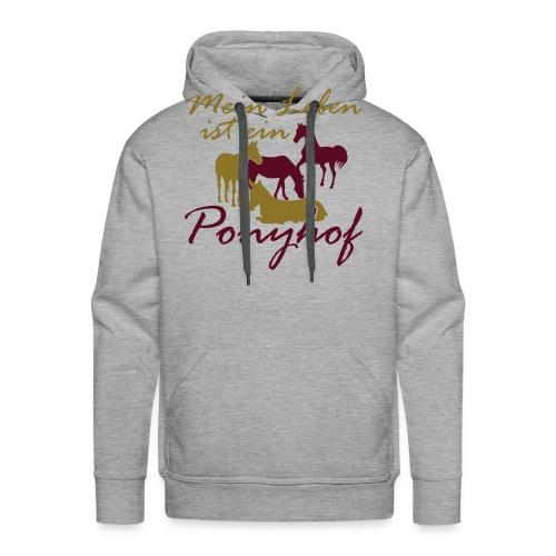 Ponyhof-Lightbrown-Blau - Männer Premium Hoodie
