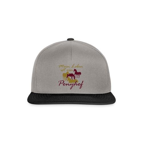 Ponyhof-Lightbrown-Blau - Snapback Cap