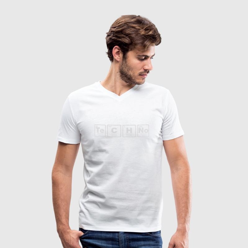 TECHNO PERIODIC TABLE T-shirts - Mannen T-shirt met V-hals