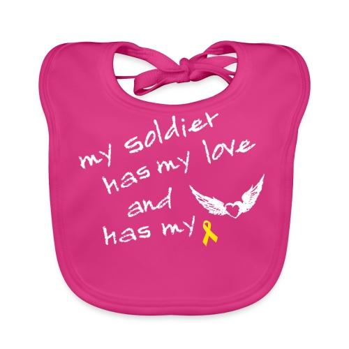 My soldier has my love - Baby Bio-Lätzchen