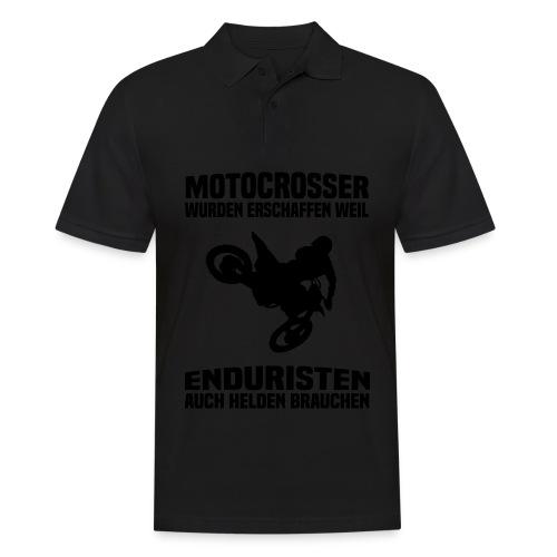 Motocrosser wurden erschaffen weil... - Männer Poloshirt