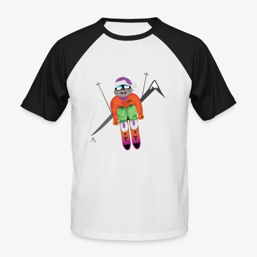 Snow board  - T-shirt baseball manches courtes Homme
