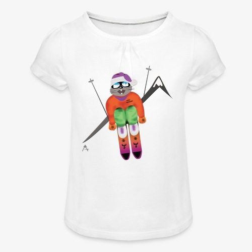 Snow board  - T-shirt à fronces au col Fille