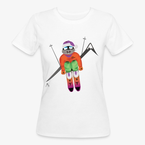 Snow board  - T-shirt bio Femme