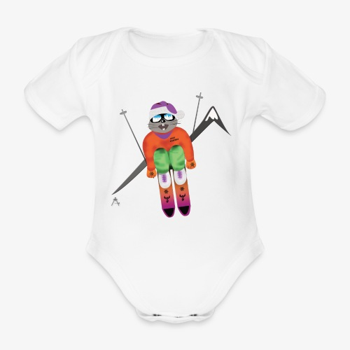 Snow board  - Body bébé bio manches courtes