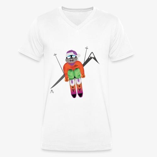 Snow board  - T-shirt bio col V Stanley & Stella Homme