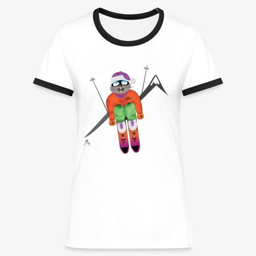 Snow board  - T-shirt contrasté Femme