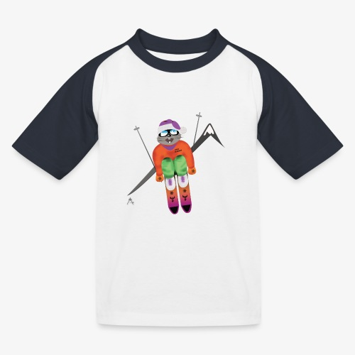 Snow board  - T-shirt baseball Enfant