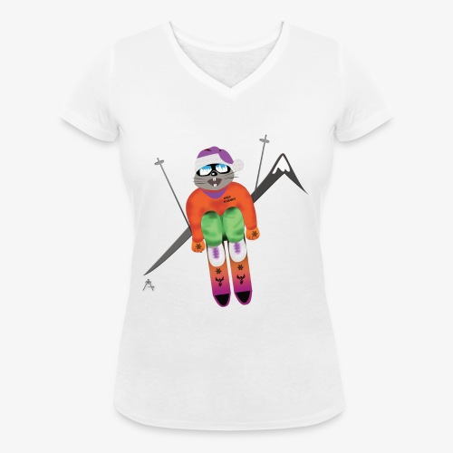 Snow board  - T-shirt bio col V Stanley & Stella Femme
