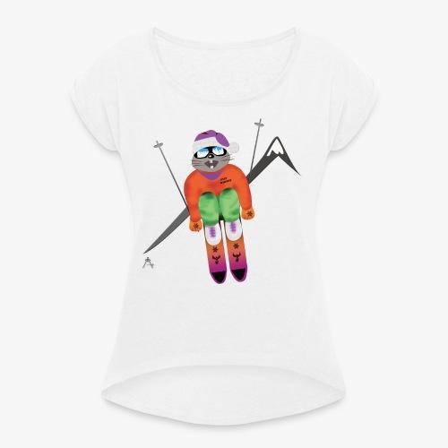 Snow board  - T-shirt à manches retroussées Femme
