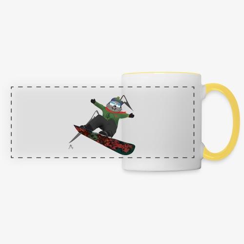 snowboard marmot - Mug panoramique contrasté et blanc