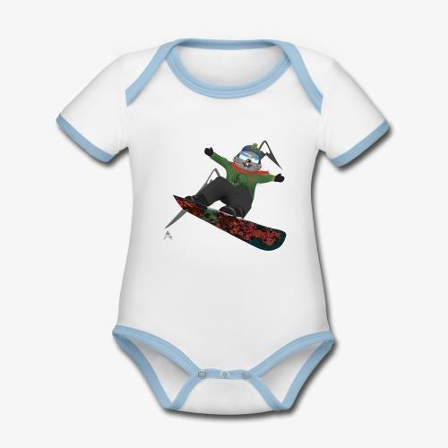 snowboard marmot - Body Bébé bio contrasté manches courtes